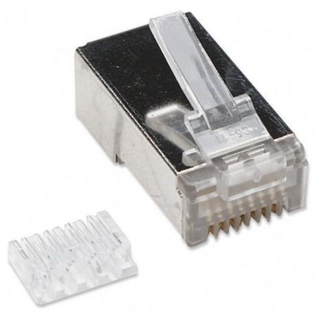 Intellinet Plug Modulare RJ45 Cat 6 con Slitta per Cavo Flessibile STP IWP-8P8C-SR-C6