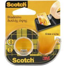 Scotch Nastro Biadesivo 665/126D Trasp Senza Chiocciola 12 mm x 33 Mt 82249
