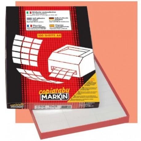 Markin 210C535 Bianco 400pezzoi etichetta autoadesiva