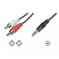 Nilox NX090703101 1.5m 3.5mm 2 x RCA 3.5mm Nero cavo audio