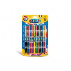 Carioca Bi Color Medio Multicolore 12pezzoi marcatore 42265