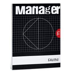 Favini Manager A4 90fogli Nero, Bianco quaderno per scrivere A423614