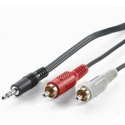 Nilox 1.5m 3.5mm 2xRCA 1.5m 2 x RCA 3.5mm Nero cavo audio NX090102101