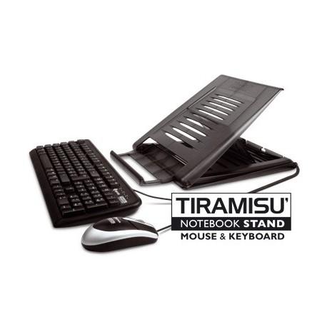 Hamlet Kit Tiramis piattaforma per Notebook con tastiera e mouse usb XTMS100KM