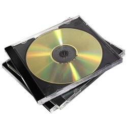 Fellowes 98307 custodia CDDVD Custodia Jewel 2 dischi Nero, Trasparente