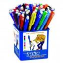 Tratto 826500 penna a sfera Nero, Blu, Verde, Rosso 50 pezzoi