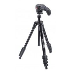 Manfrotto MKCOMPACTACN BK treppiede Fotocamere digitalifilm 3 gambagambe Nero