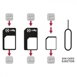 Celly SIMKITAD SIM card adapter adattatore per SIMflash memory card