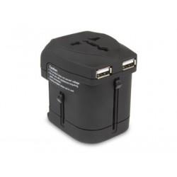 Hamlet Traver Adapter adattatore universale da viaggio per prese elettriche pi caricatore usb XPW2UTRAVEL