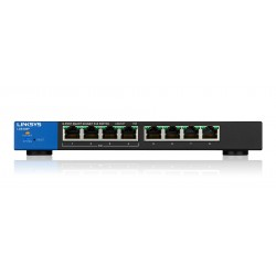 Linksys LGS308P Gestito Gigabit Ethernet 101001000 Nero, Blu Supporto Power over Ethernet PoE LGS308P EU