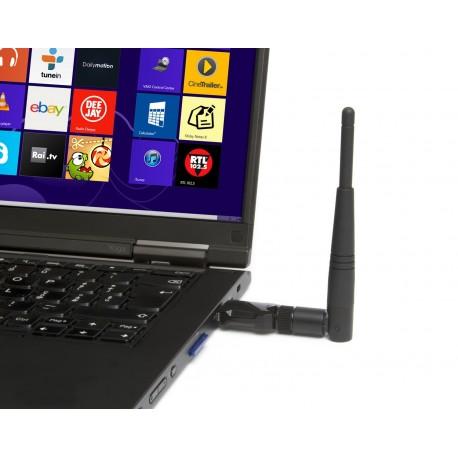 Hamlet Adattatore USB Wi Fi 600Mbps Dual Band 5GHz 2.4GHz standard 802.ac con antenna rimovibile HNW600ACU