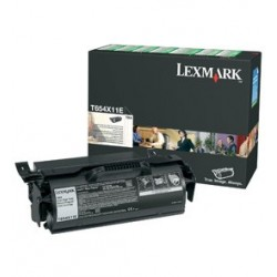 Lexmark T654 Extra High Yield Return Program Print Cartridge Original Nero T654X11E