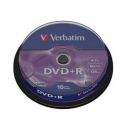 Verbatim DVD R Matt Silver 4.7GB DVD R 10pezzoi 4349810