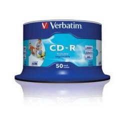 Verbatim CD R AZO Wide Inkjet Printable CD R 700MB 50pezzoi 4343850