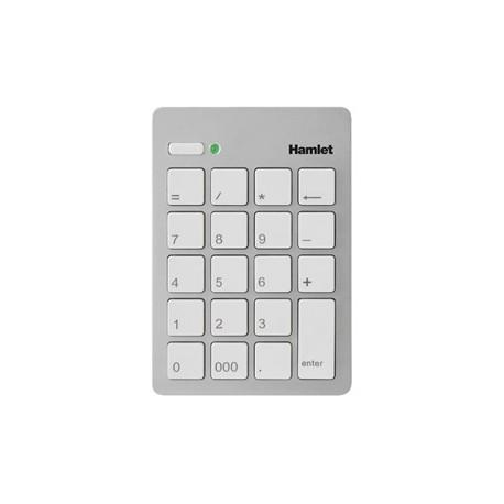 Hamlet Numeric Keypad tastierino numerico usb 2.0 argento XKPADUSV