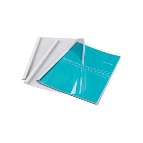 Fellowes 53154 cartellina A4 Plastica Trasparente, Bianco 100 pezzoi