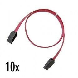 Nilox NX090305118 cavo SATA 0,5 m Nero, Rosso
