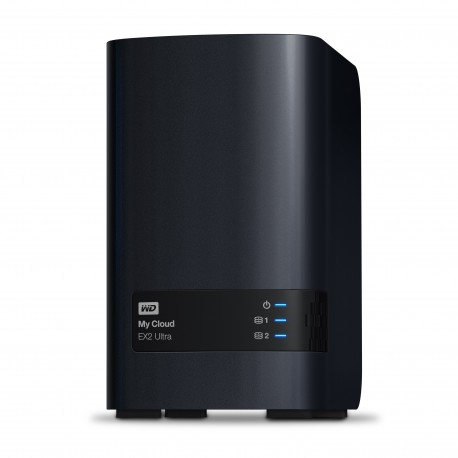 Western Digital My Cloud EX2 Ultra Collegamento ethernet LAN Scrivania Nero NAS WDBVBZ0080JCH EESN