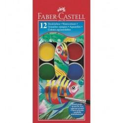Faber Castell 125012 Blu, Verde, Rosso, Giallo pittura lavabili