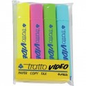 Tratto Video marcatore permanente Blu, Verde, Rosa, Giallo 4 pezzoi 830800