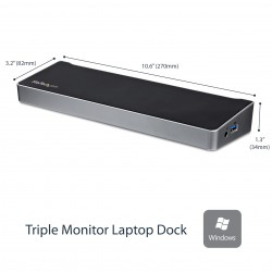 StarTech.com Docking Station replicatore di porte Universale per 3 portatili video triplo USB 3.0 USB3DOCKH2DP