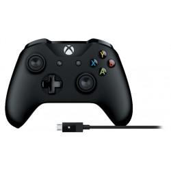 Microsoft 4N6 00002 periferica di gioco Gamepad PC, Xbox One Nero
