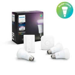 Philips Hue White and Color ambiance 3 x E27 bulb Starter kit E27 929001257361