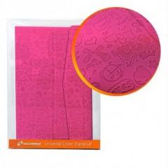 "Techmade Custodia rigida per Tablet 7 "" in Ecopelle con Stand Up Rosa TM-07XV-PK"